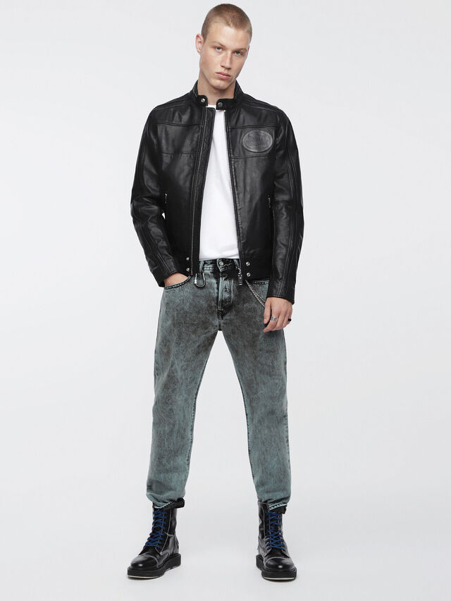 Diesel L-STREET, Black Leather - Leather jackets - Image 4