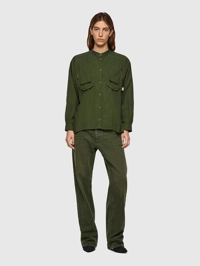 Diesel - C-EILEEN, Olive Green - Shirts - Image 4