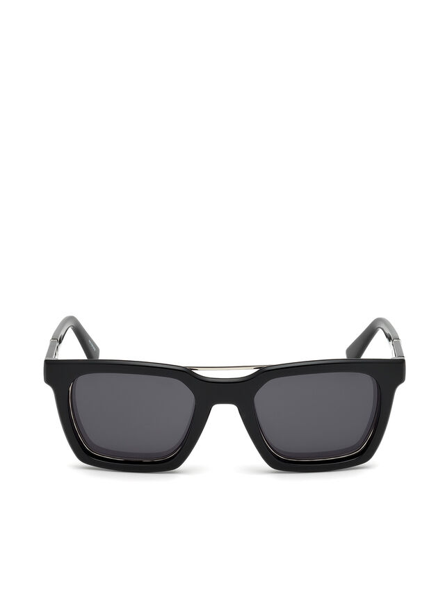 Diesel - DL0250, Bright Black - Eyewear - Image 1