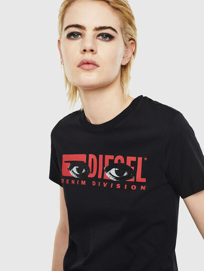 Diesel - T-SILY-YD, Black - T-Shirts - Image 3