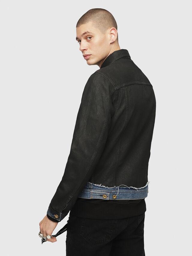 Diesel - D-CADY, Black/Blue - Denim Jackets - Image 2