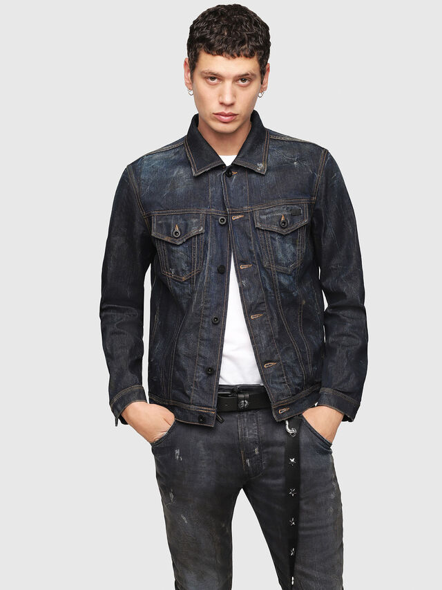 Diesel - CL-NHILL, Dark Blue - Denim Jackets - Image 1