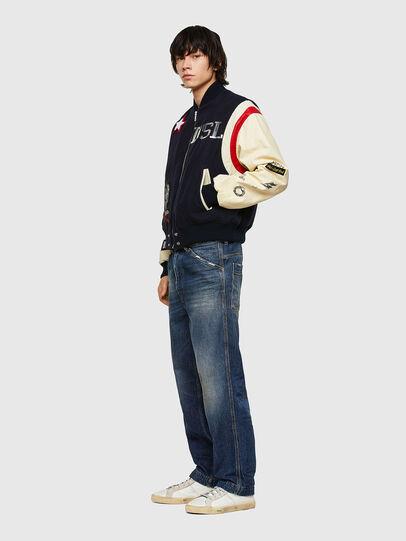 Diesel - L-COHEN, Blue/White - Leather jackets - Image 5