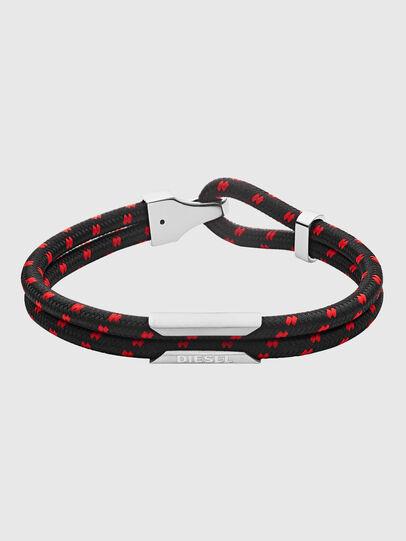 Diesel - DX1235, Black/Red - Bracelets - Image 1