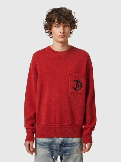Diesel - K-BOSTON, Red - Knitwear - Image 1