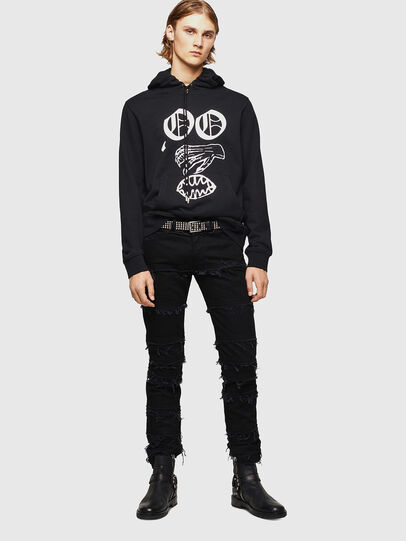 Diesel - SNEILBOOD-X1, Black - Sweaters - Image 6