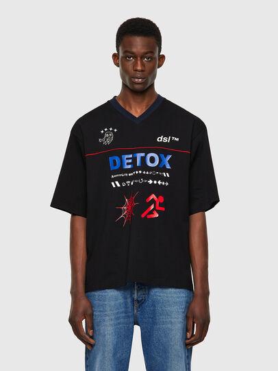 Diesel - T-DELPHIVY-SLITS, Black - T-Shirts - Image 1
