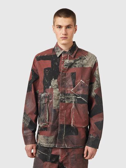 Diesel - D-CORU-SP JOGGJEANS, Black/Brown - Denim Shirts - Image 1