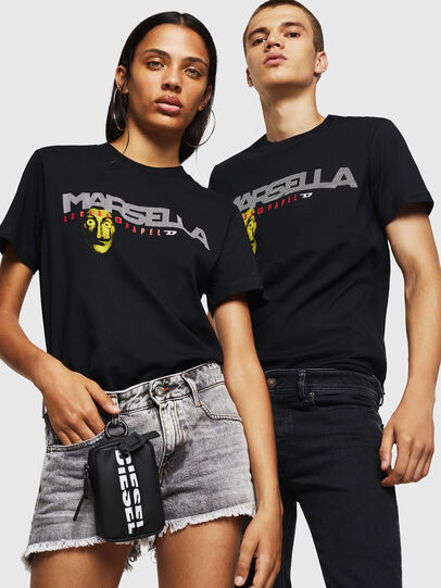 Diesel - LCP-T-DIEGO-MARSELLA, Black - T-Shirts - Image 6