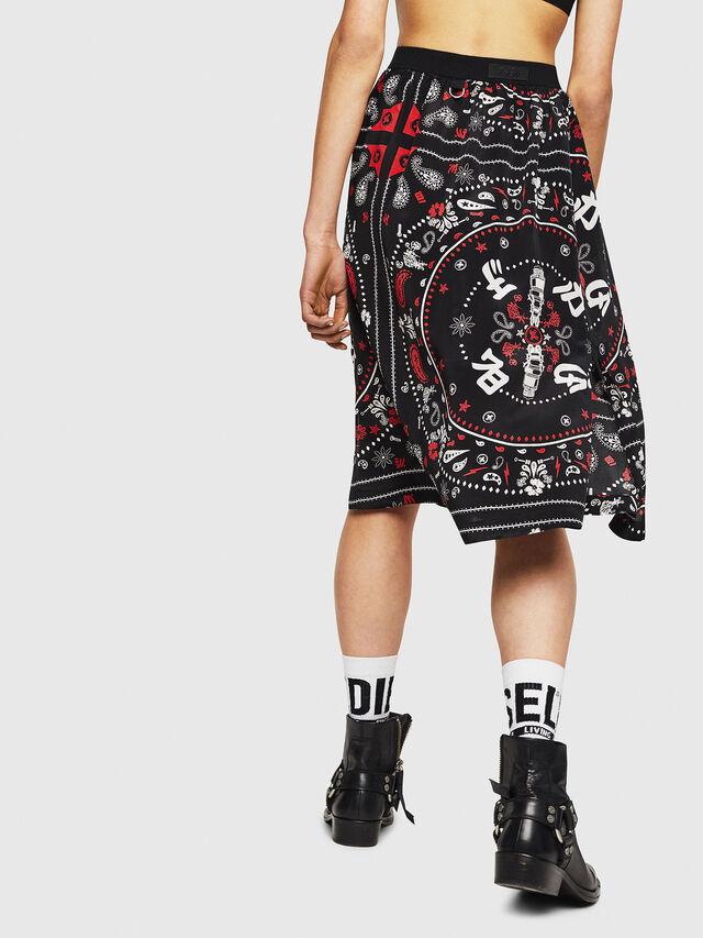 Diesel - O-MIYO-B, Black/Red - Skirts - Image 2