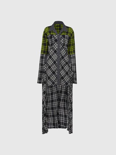 Diesel - D-NIAVY, Black/White - Dresses - Image 4
