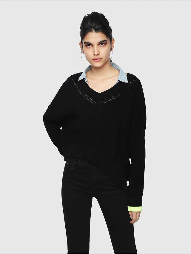 Diesel - M-STAT, Black - Knitwear - Image 1