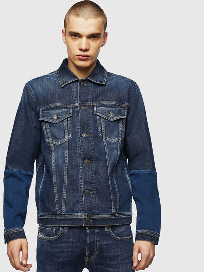 Diesel - D-NHILL-SP JOGGJEANS, Medium blue - Denim Jackets - Image 1