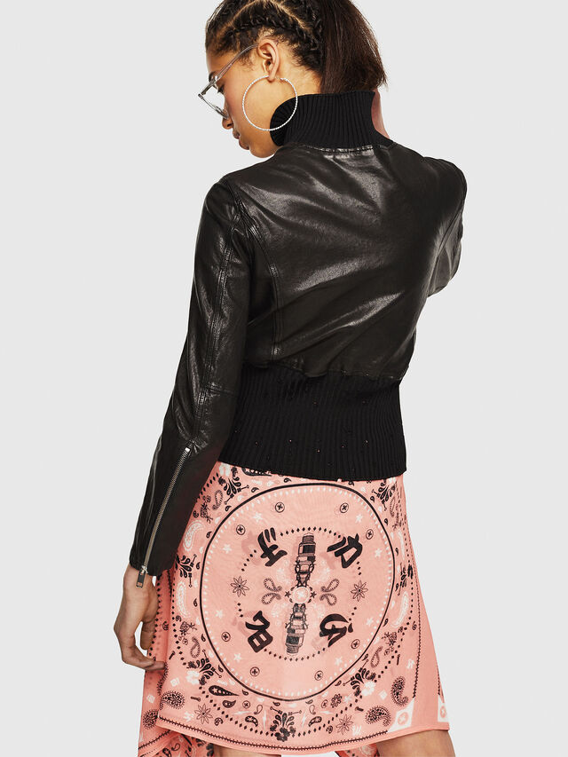 Diesel - L-LYS-B, Black - Leather jackets - Image 2