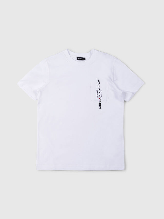 Diesel - TJUSTPOCK, White - T-shirts and Tops - Image 1
