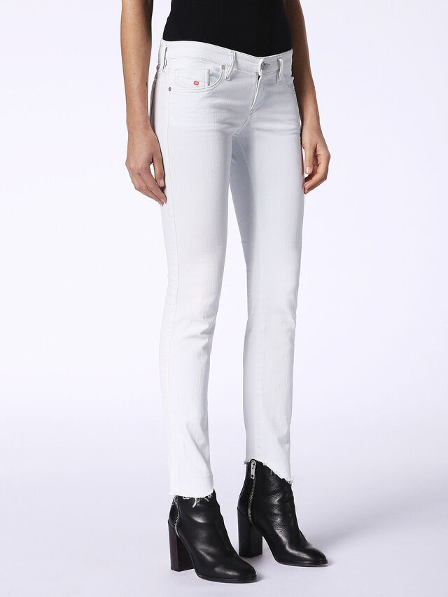 SKINZEE-LOW-S-C 084SR, White Jeans