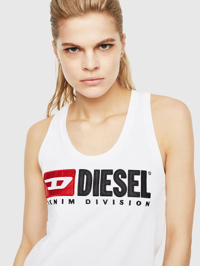 Diesel - T-SILK, White - Tops - Image 3