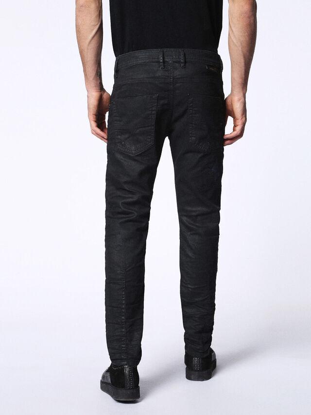 Diesel - KROOLEY CB JOGGJEANS 0680B, Black - Jeans - Image 3