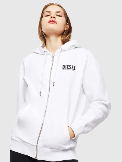 Diesel - S-GIRK-HOOD-ZIP-LOGO, White - Sweaters - Image 2