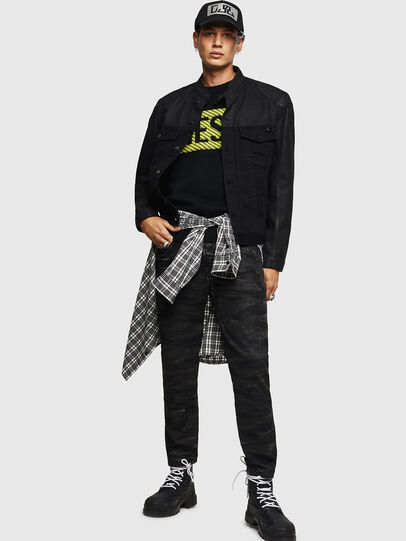 Diesel - D-DANY, Black/Dark grey - Denim Jackets - Image 7