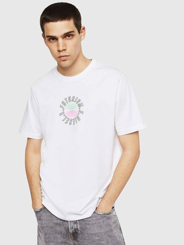 Diesel - T-JUST-Y19, White - T-Shirts - Image 1