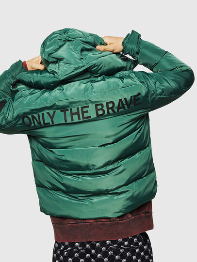 Diesel - W-SMITH-YA-WH, Dark Green - Winter Jackets - Image 2
