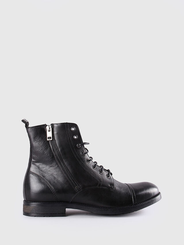 Diesel - D-KALLIEN, Black Leather - Boots - Image 1