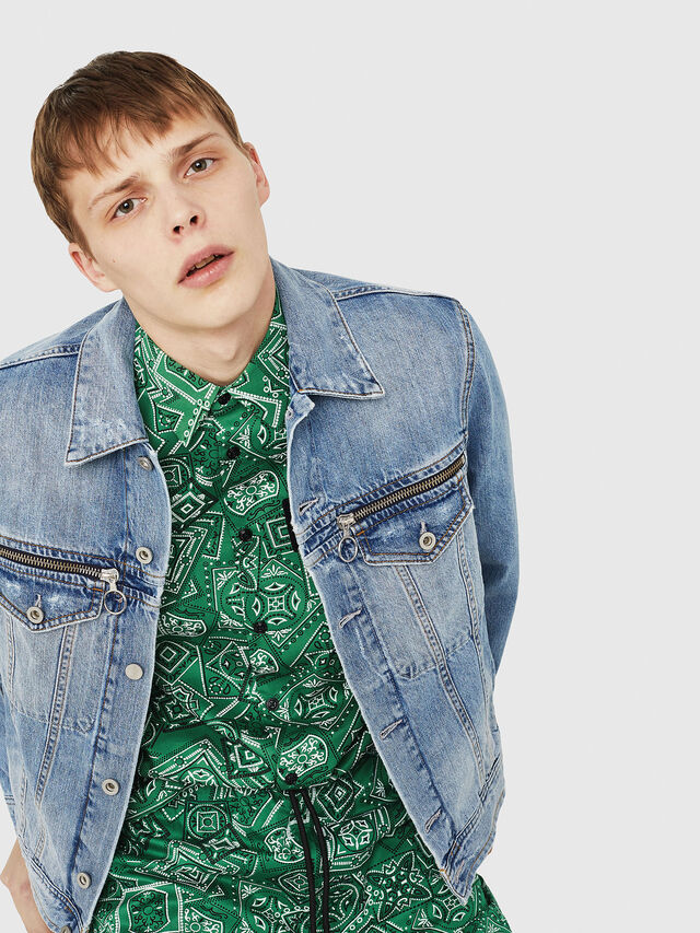 Diesel - D-ROY, Blue Jeans - Denim Jackets - Image 5