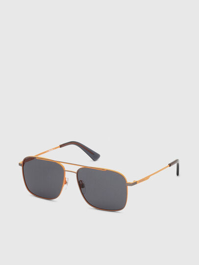 Diesel - DL0295, Orange/Black - Sunglasses - Image 2