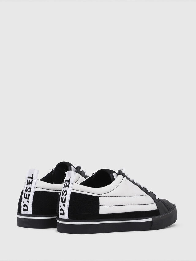 Diesel - D-VELOWS LOW PATCH, Black/White - Sneakers - Image 3