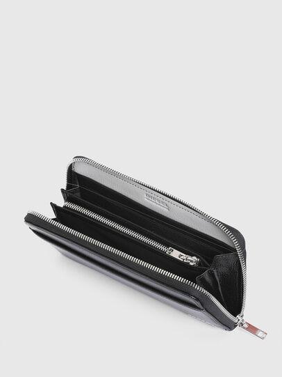 Diesel - 24 ZIPOCKET, Black/Grey - Zip-Round Wallets - Image 3