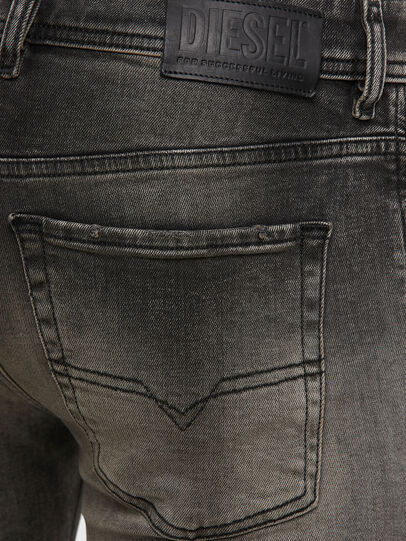 Diesel - Sleenker 009JF, Black/Dark grey - Jeans - Image 4
