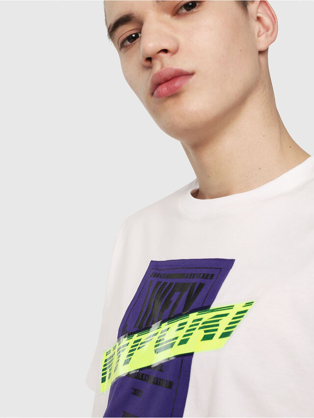 Diesel - T-JUST-Y7, White - T-Shirts - Image 3