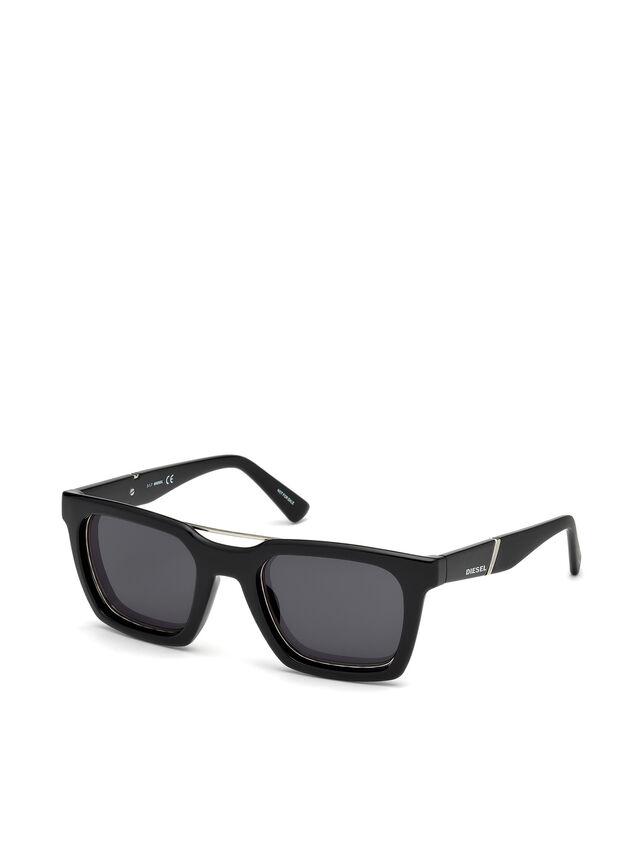Diesel - DL0250, Bright Black - Eyewear - Image 4