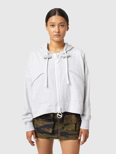 Diesel - F-CROPPY-ZIP, Light Grey - Sweaters - Image 1