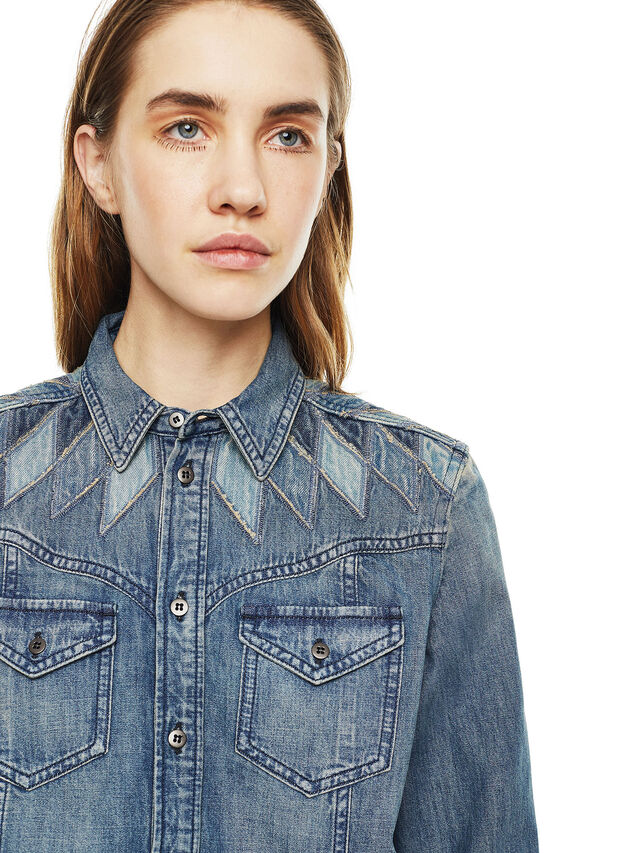 Diesel - CALLYVAN, Blue Jeans - Shirts - Image 3