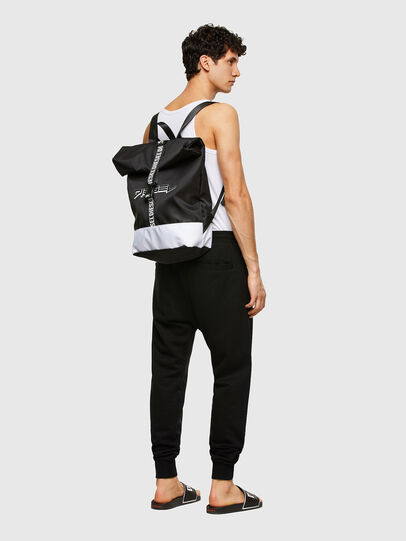 Diesel - BBAG-ZAINO, Black/White - Beachwear accessories - Image 6