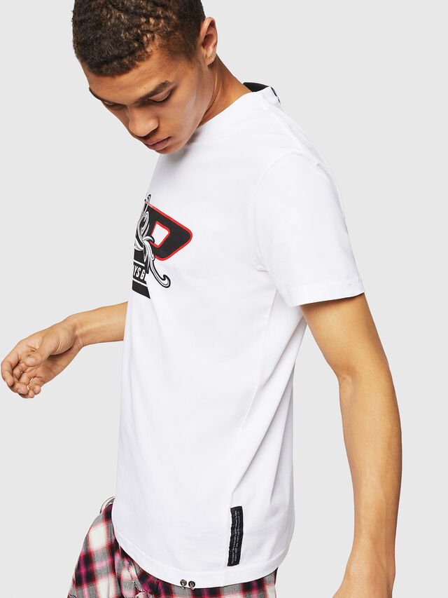 Diesel - PS-T-DIEGO-OCTOSKULL, White - T-Shirts - Image 5