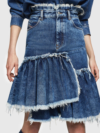 Diesel - DE-ALAYNA, Medium blue - Skirts - Image 1