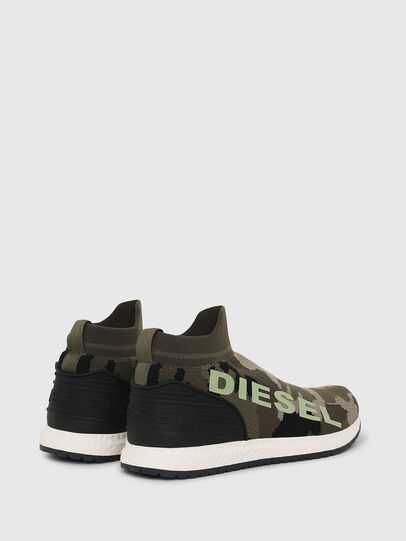 Diesel - SLIP ON 03 LOW SOCK, Green Camouflage - Footwear - Image 3