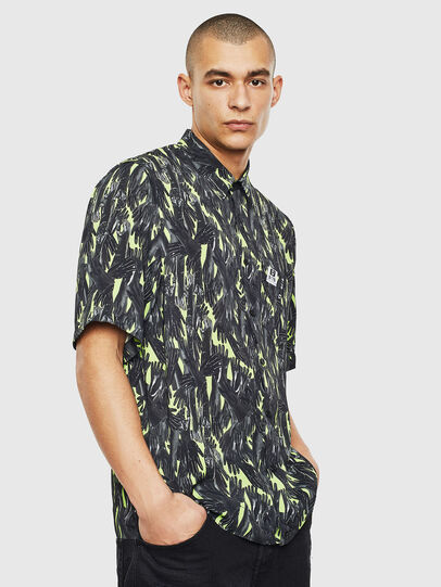 Diesel - S-ATWOOD-GLOVY, Green - Shirts - Image 1