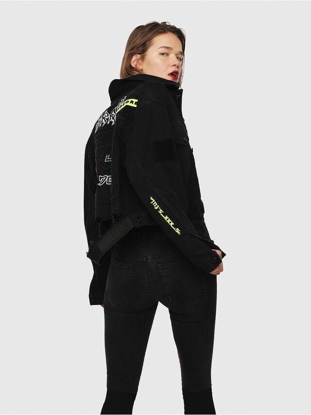 Diesel - DE-POPPY-E, Black Jeans - Denim Jackets - Image 4