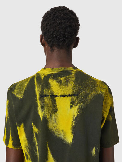 Diesel - T-JUST-B84, Green/Yellow - T-Shirts - Image 4