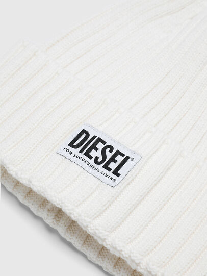Diesel - K-CODER-E, White - Knit caps - Image 3
