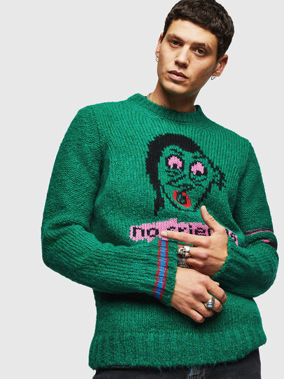 Diesel - K-BOBBY, Dark Green - Knitwear - Image 4