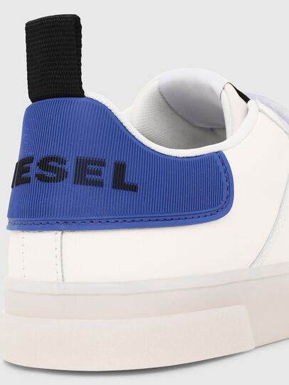 Diesel - S-CLEVER LOW STRAP, White/Blue - Sneakers - Image 4