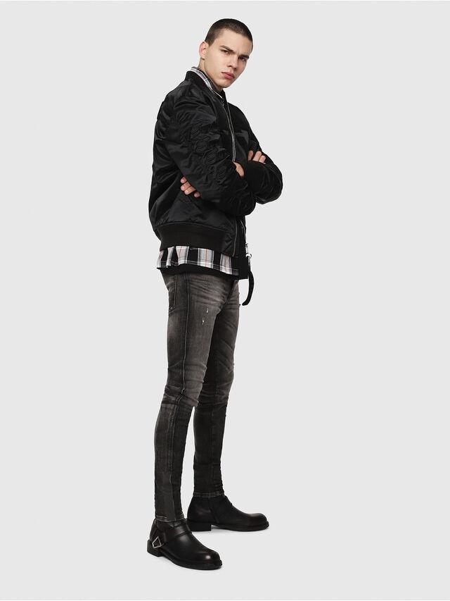 Diesel - D-Reeft JoggJeans 0077S, Black/Dark grey - Jeans - Image 4