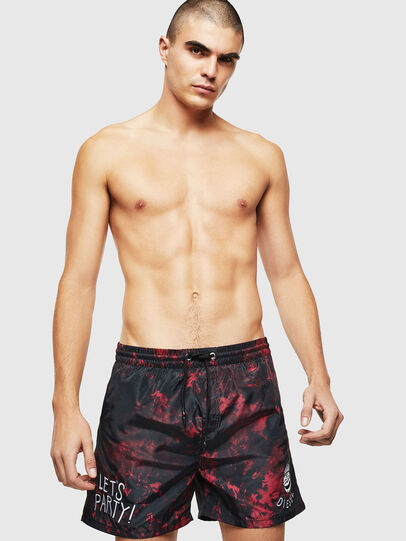 Diesel - BMBX-CAYBAY, Black/Red - Swim shorts - Image 1