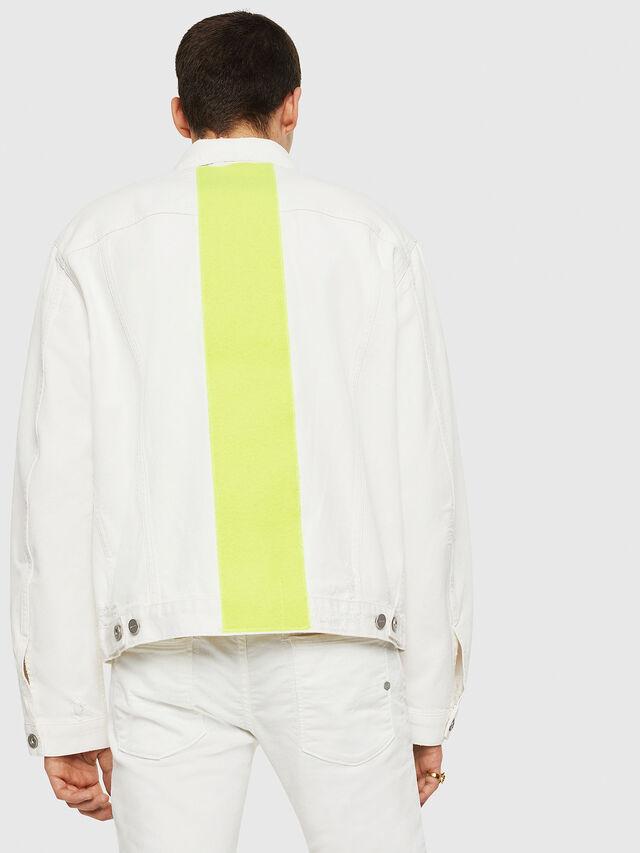 Diesel - D-HILL, White/Yellow - Denim Jackets - Image 2