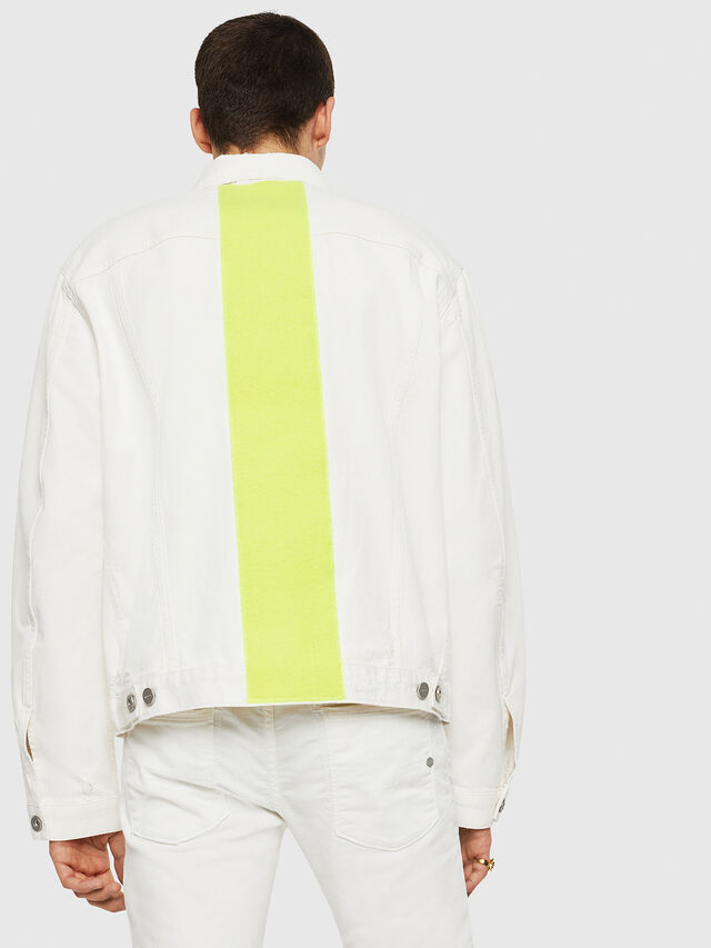Diesel - D-HILL, White/Yellow - Denim Jackets - Image 2